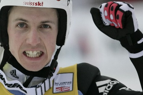 Le Suisse Simon Ammann a remporté son quatrième concours de... (Photo: Reuters)