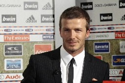 Le milieu de terrain international anglais David Beckham,... (Photo: Reuters)