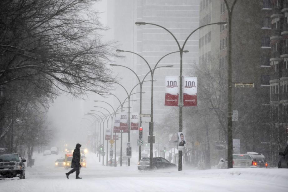 Les clients ont déserté le centre-ville, hier. Si... (Photo: Bernard Brault, La Presse)