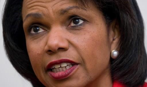 Condoleezza Rice... (Photo: AFP)