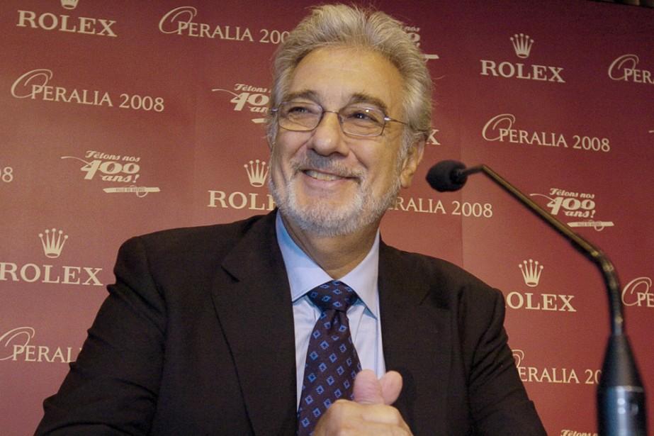 Le ténor Plàcido Domingo, organisateur du concours Operalia,... (Photo: Érick Labbé, Le Soleil)