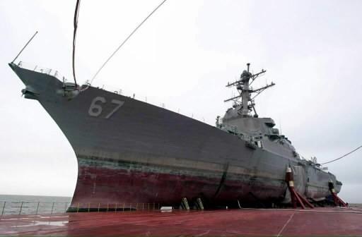 Le USS Cole... (Photo: archives AFP)