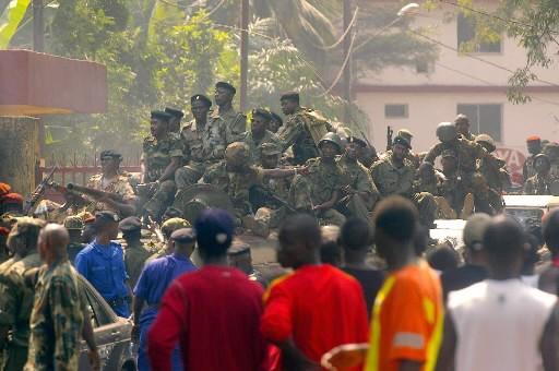Des soldats en Guinée... (Photo: AFP)