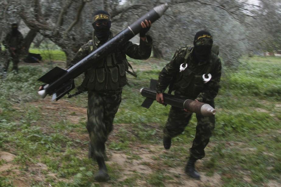 Le mouvement islamiste Hamas a pilonné mercredi le sud d'Israël... (Photo: AP)
