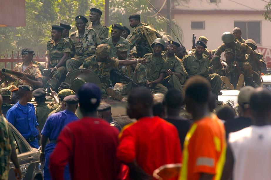 Les militaires putschistes affirmant avoir pris le pouvoir en... (Photo: AFP)