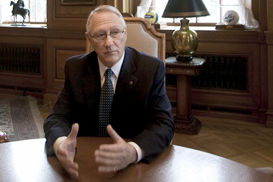 Gérald Tremblay précise que la Ville va s'asseoir... (Photo: Patrick Sanfaçon, archives La Presse)