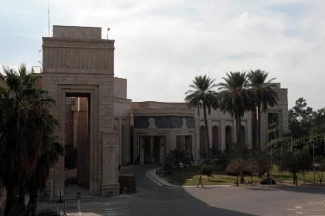 L'ancien palais présidentiel de Saddam Hussein occupé depuis 2003... (Photo: AFP)