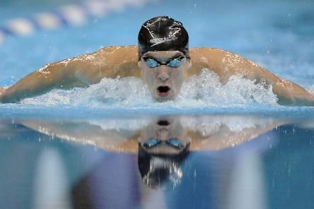 Le nageur américain Michael Phelps, huit fois champion olympique à... (Photo: AP)