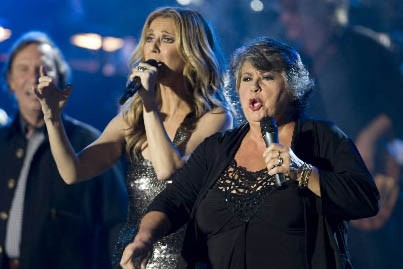 Céline Dion et Ginette Reno... (Photo: Robert Skinner, La Presse)