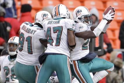 Les Dolphins de Miami sont l'une des belles surprises de la saison... (Photo: AP)