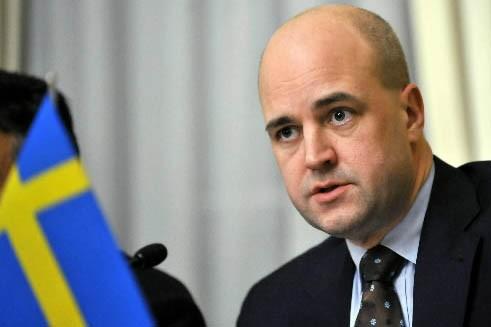 Le Premier ministre suédois Fredrik Reinfeldt... (Photo: Reuters)