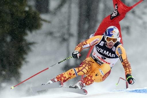 Le Québécois Erik Guay a pris la 6e place de la descente de... (Photo: Reuters)