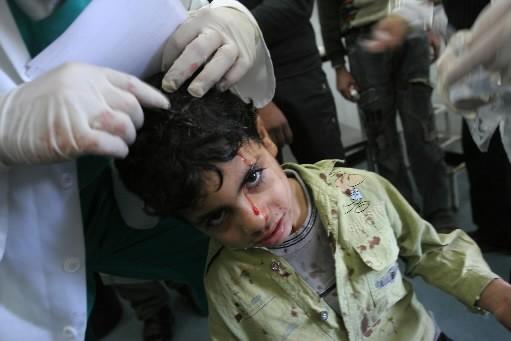 Un enfant palestinien a été blessé par les... (Photo: Bloomberg)