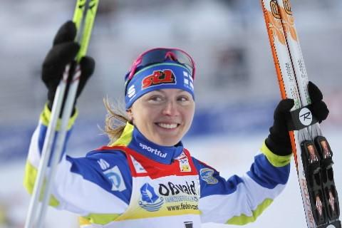 La Finlandaise Virpi Kuitunen a remporté dimanche à Oberhof... (Photo: Reuters)