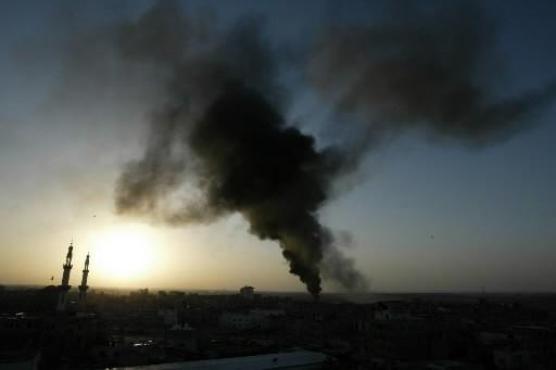 L'aviation israélienne a bombardé dimanche 40 tunnels dans le sud... (Photo: AFP)