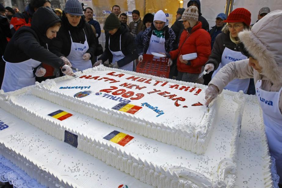 Bucarest a établi un nouveau record mondial hier avec la... (Photo: Reuters)