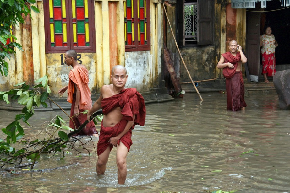 L'ouragan Nargis, qui a balayé le sud de... (Photo: AFP)