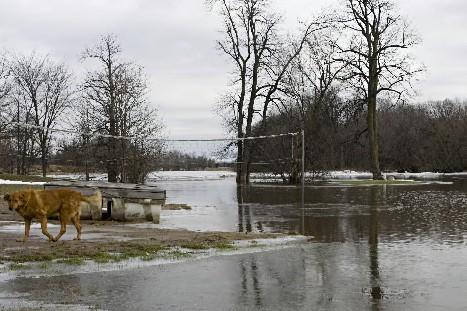 Avec le redoux des derniers jours, la rivière... (Photo: François Roy, La Presse)