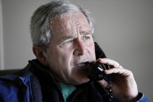 Le président George W. Bush a eu un... (Photo: Reuters)