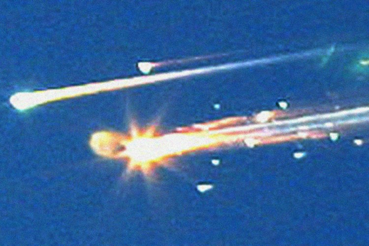 La navette Columbia s'était désintégrée lors de son... (Photo: AP)