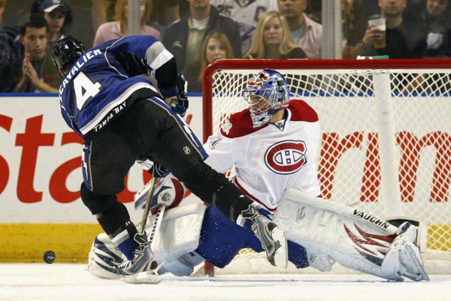 Si Carey Price effectuait l'arrêt devant Vincent Lecavalier,... (Photo: AP)