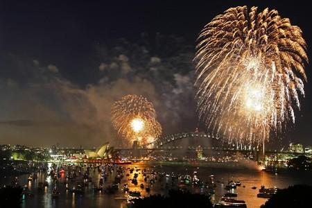 Sydney a célébré la nouvelle année avec un... (Photo: AFP)