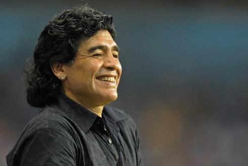 Le sélectionneur argentin Diego Maradona... (Photo: AFP)