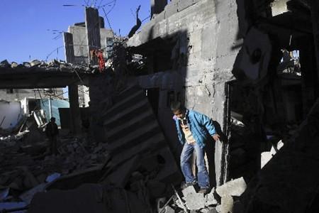 Le bombardement d'une école de l'ONU par l'armée... (Photo: AP)