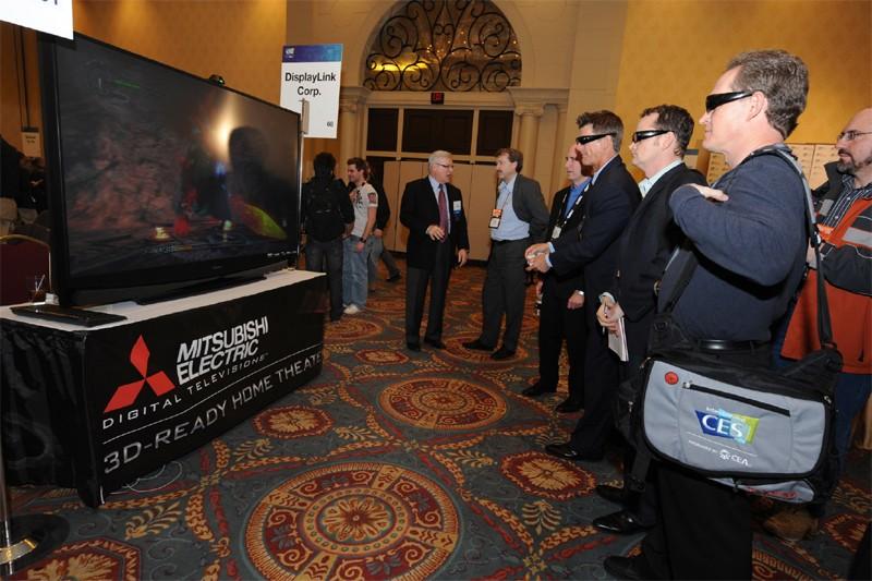 Des visiteurs au CES 2009 à Las Vegas... (AFP)