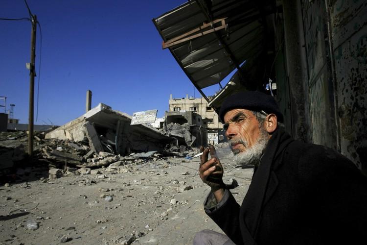 Israël a interrompu ses bombardements sur Gaza-ville mercredi... (Photo: AP)