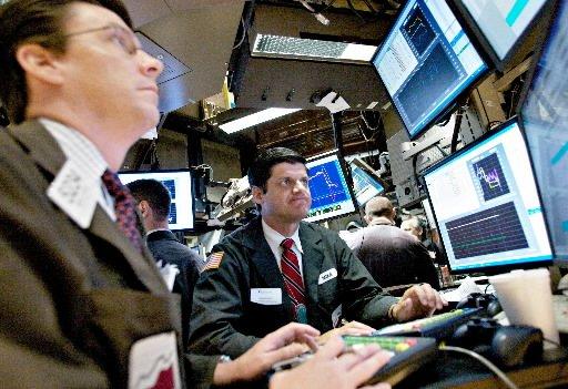 La Bourse de New York a terminé en hausse lundi, convaincue... (Photo: Bloomberg)