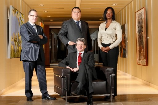 Michel Brunet (assis), président et chef de la... (Photo: Martin Chamberland, La Presse)