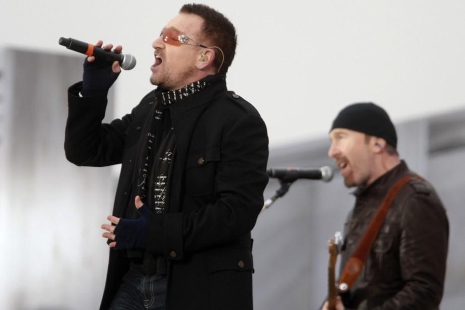 Bono et The Edge lors du spectacle We...