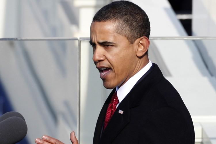 Barack Obama a prononcé son discours d'investiture sur... (Photo: Reuters)