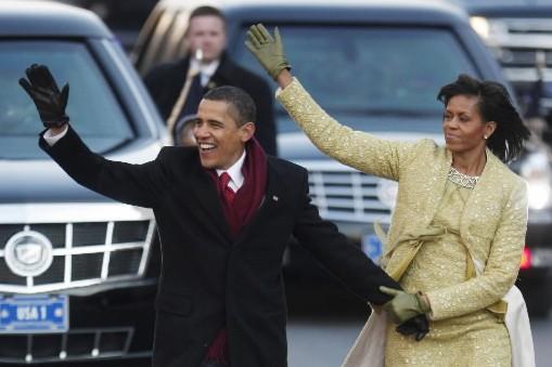 Barack Obama et sa femme Michelle... (Photo Reuters)