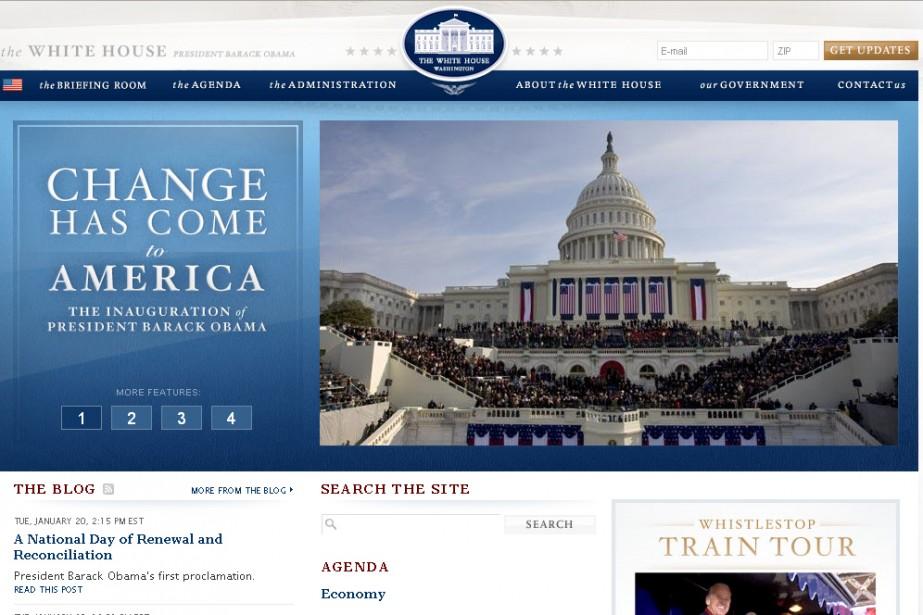 Le site whitehouse.gov...