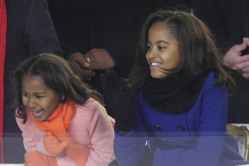 Sasha et Malia Obama... (Photo: AP)