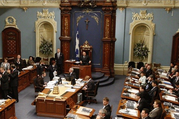 Le salon bleu de l'Assemblée nationale du Québec.... (Photothèque Le Soleil)
