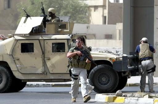 Des employés de Blackwater... (Photo: AFP)