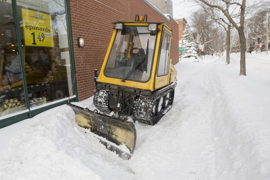 Montréal se remet tranquillement de la... (Photo: Ivanoh Demers, La Presse)