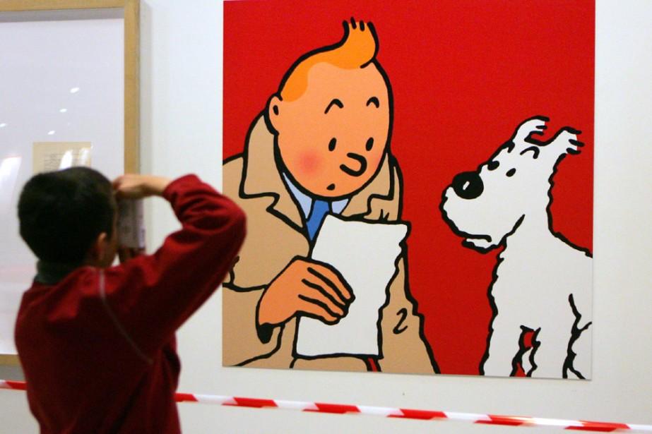 Une exposition sur Tintin se tenait en décembre... (Photo: AFP)