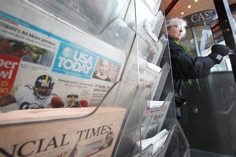 Le plus important groupe de presse aux États-Unis, Gannett, a fait... (AP)