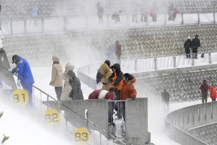 Le second concours de Sapporo (Japon), comptant pour la Coupe du... (Photo: AFP)