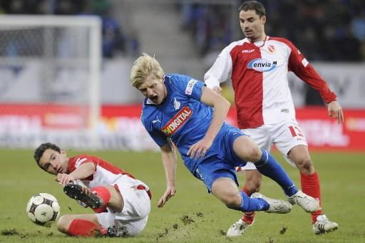 Hoffenheim s'est facilement imposé face au Cottbus.... (Photo: AP)