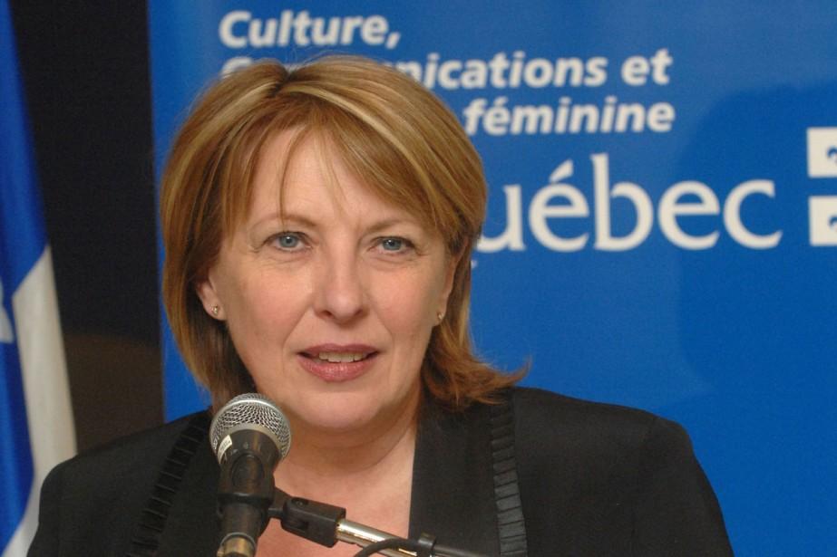 La ministre de la Culture, des Communications et... (Photo La Tribune)