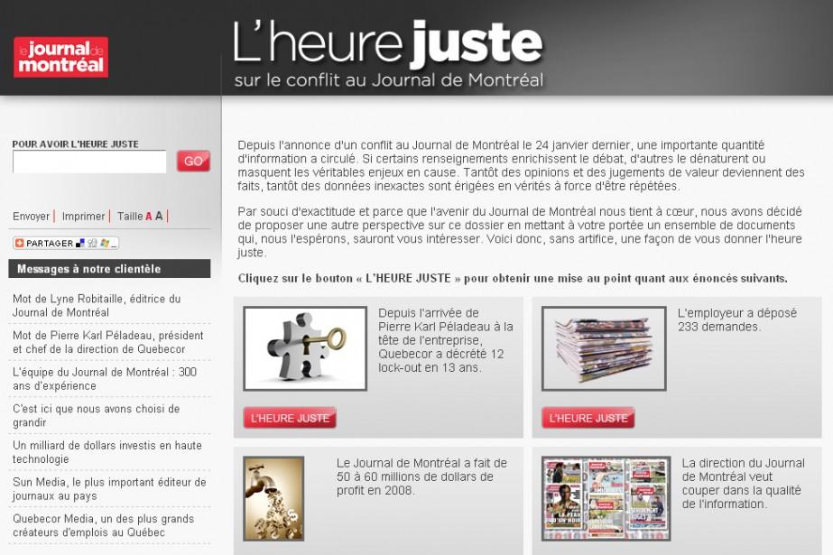 Le site web www.lheurejuste.ca...