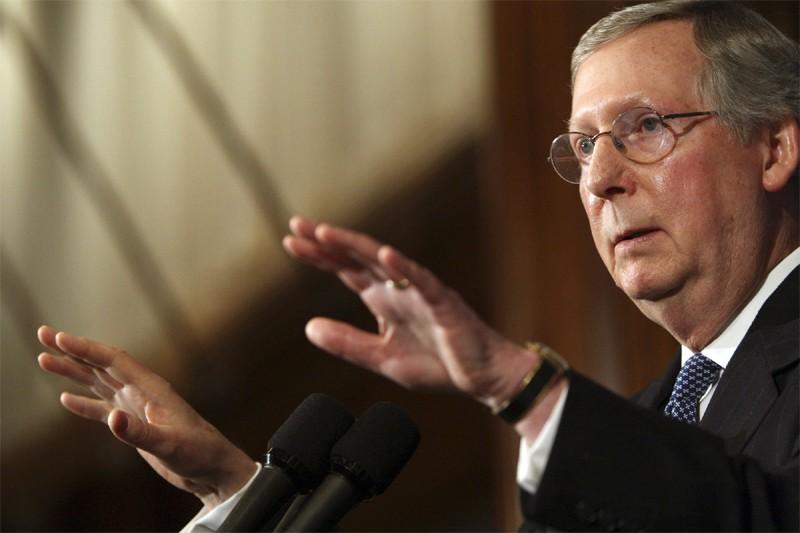 Mitch McConnell, chef de la minorité républicaine au... (AP)
