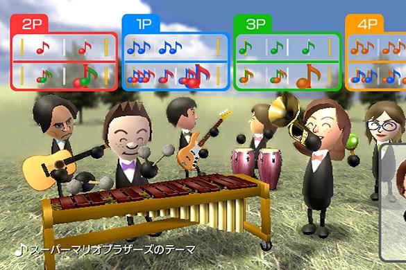 Extrait du jeu Wii Music...