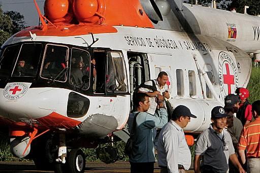 Un hélicoptère du CICR a décollé mardi matin de Villavicencio en... (Photo: AFP)