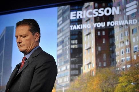 Le patron d'Ericsson, Carl-Henric Svanberg... (Photo: Reuters)